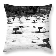 Letchworth Village Cemetery Throw Pillow