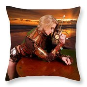 Lethal Lisa Throw Pillow