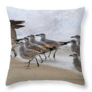 Let's Blow This Joint Throw Pillow by Betsy Knapp