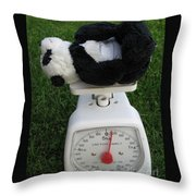 Let's Check My Weight Now Throw Pillow