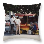 Lets Do Lunch Mexico Series By Tom Ray Throw Pillow