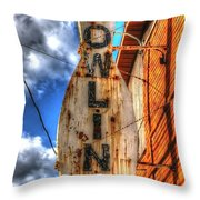 Bowling Pastime Throw Pillow