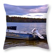 Lets Go Fishing Throw Pillow