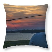 Lets Go Flying Throw Pillow