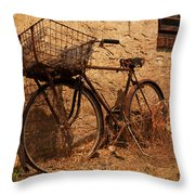 Let's Go Ride A Bike Throw Pillow