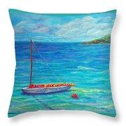 Let's Go Sailing Throw Pillow