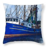 Let's Go Shrimping Throw Pillow