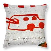 Let's Go Surfing Throw Pillow by Chiara Corsaro