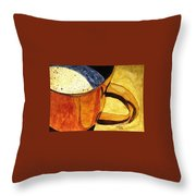 Let's Have A Cuppa Throw Pillow