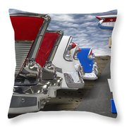 Lets Hear It For The Red White And Blue Throw Pillow by Mike McGlothlen