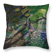 Let's Meet At The Old Apple Tree Throw Pillow