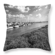 Let's Raise The Sails Throw Pillow