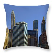 Let's Talk Chicago Throw Pillow