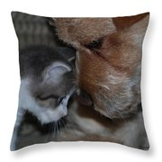 Lets Talk Throw Pillow