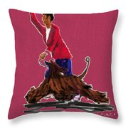 Lets Tango In Red Throw Pillow