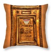 Letter Box Throw Pillow