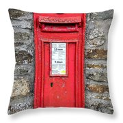 Victorian Red Letter Box Throw Pillow