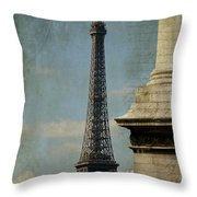 Letter From Paris Throw Pillow