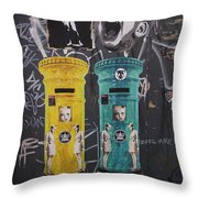 Letterboxes Da Vinci And Laughter Throw Pillow