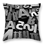 Letters And Numbers 1 Throw Pillow
