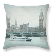 Letters From The Thames - London Throw Pillow
