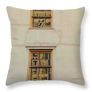 Letters Reflected Throw Pillow