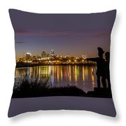 Lewis And Clark Throw Pillow