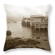 Lewis Fish Market Selected Fresh Fish And Swains Fish Market Monterey 1929 Throw Pillow