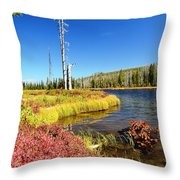 Lewis River Fall Throw Pillow