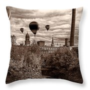 Lewiston Maine Hot Air Balloons Throw Pillow