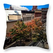 Lewiston Maine In Fall Throw Pillow