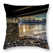 Lewiston Under The Bridge Throw Pillow