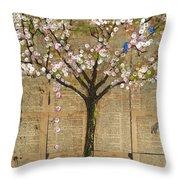 Lexicon Tree Of Life 3 Throw Pillow by Blenda Studio