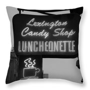 Lexington Candy Shop In Black And White Throw Pillow