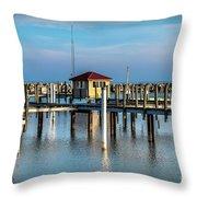 Lexington Harbor With No Boats Throw Pillow