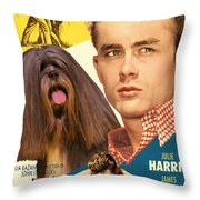 Lhasa Apso Art - East Of Eden Movie Poster Throw Pillow