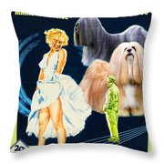 Lhasa Apso Art - The Seven Year Itch Movie Poster Throw Pillow