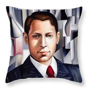 L'homme D'affaire Throw Pillow by Catherine Abel