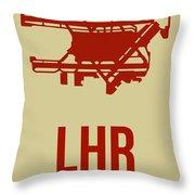 Lhr London Airport Poster 1 Throw Pillow by Naxart Studio
