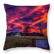 Lhs Sunset Throw Pillow
