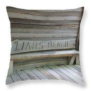 Liars Bench Throw Pillow