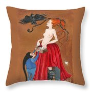 Liberation From The Past Throw Pillow