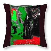 Libertad Lady Number 1  Collage C.1880 Tucson Arizona 1880-2005 Throw Pillow