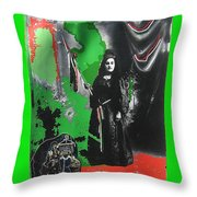 Libertad Lady Number 2 Stove Lady Collage C.1880 Tucson Arizona 1880-2008 Throw Pillow