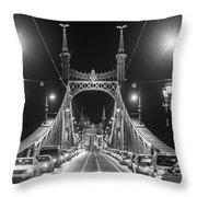 Liberty Bridge At Night Throw Pillow