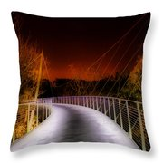 Liberty Bridge At Night Throw Pillow