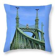Liberty Bridge Budapest Throw Pillow