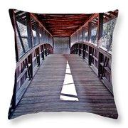 Liberty Bridge Swan Lake Throw Pillow