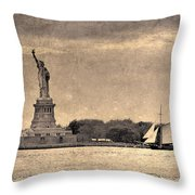 Liberty Enlightening The World Throw Pillow