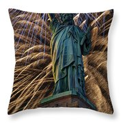 Liberty Fireworks Throw Pillow